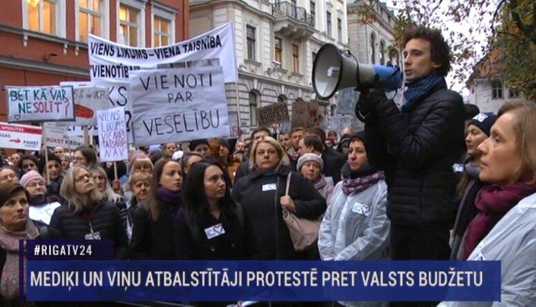Speciālizlaidums: Mediķu protests pret valsts budžetu 1. daļa