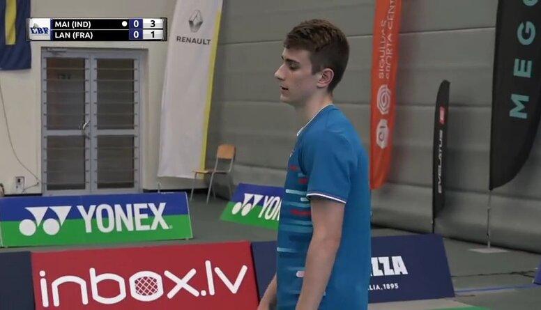 """Badmintona turnīrs """"Yonex International Latvia 2021"""". Finālspēļu ieraksti"""