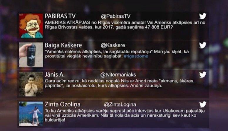 Tvitersāga: Ameriks atkāpjas no Rīgas vicemēra amata