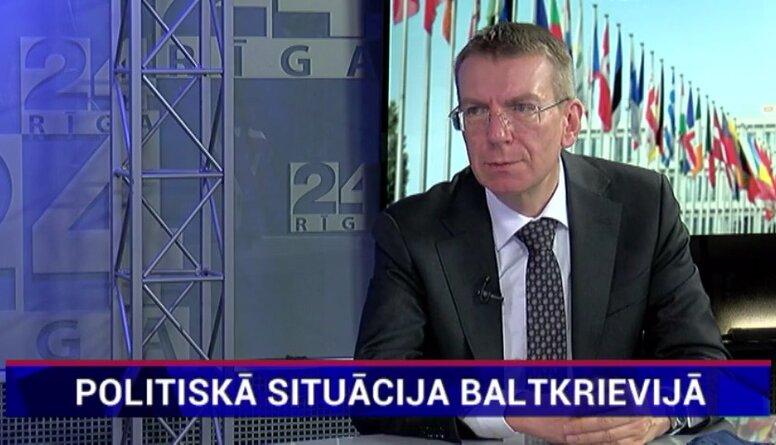 Rinkēvičs: Bez spiediena un Krievijas atbalsta pārtraukšanas nav iespējama varas maiņa Baltkrievijā