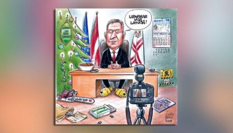 Ieskaties! Notikumi karikatūrās sagaidot Jauno gadu