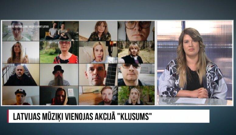 """Latvijas mūziķi vienojas akcijā """"Klusums"""""""