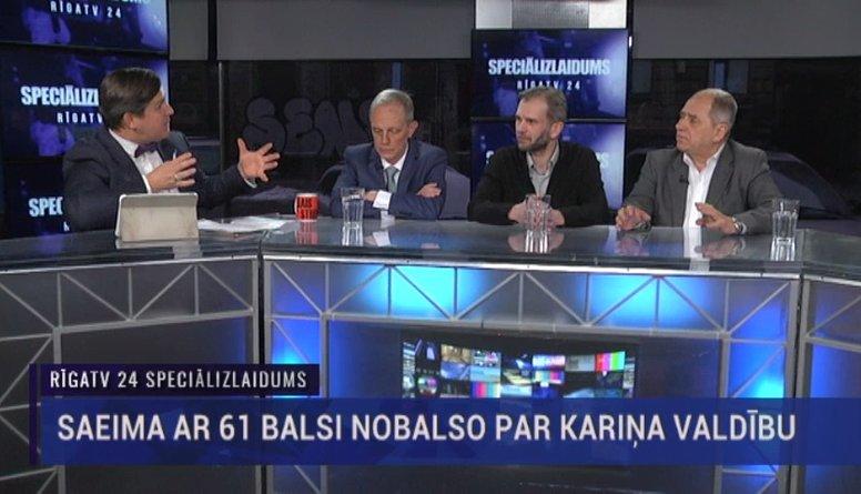 Speciālizlaidums: Saeima ar 61 balsi nobalso par Kariņa valdību