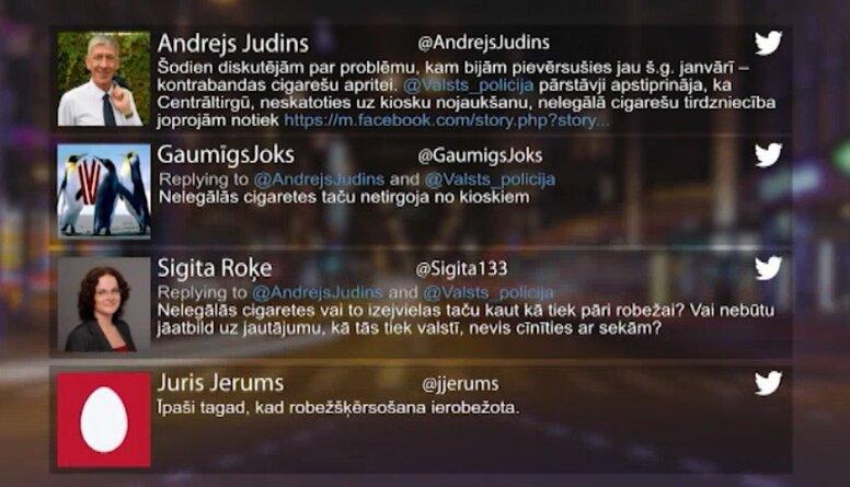 Tvitersāga: Kontrabandas cigaretes
