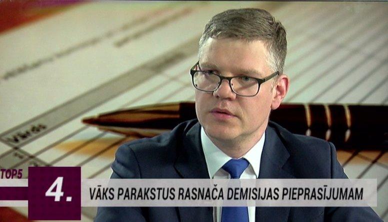 Vāks parakstus tieslietu ministra Rasnača demisijas pieprasījumam