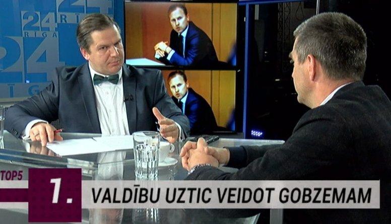"""Gobzems un """"KPV LV"""" retorikas ziņā parādījuši elastību, secina Rajevskis"""