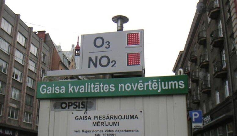 Kas liecina par gaisa kvalitātes problēmām Rīgā?