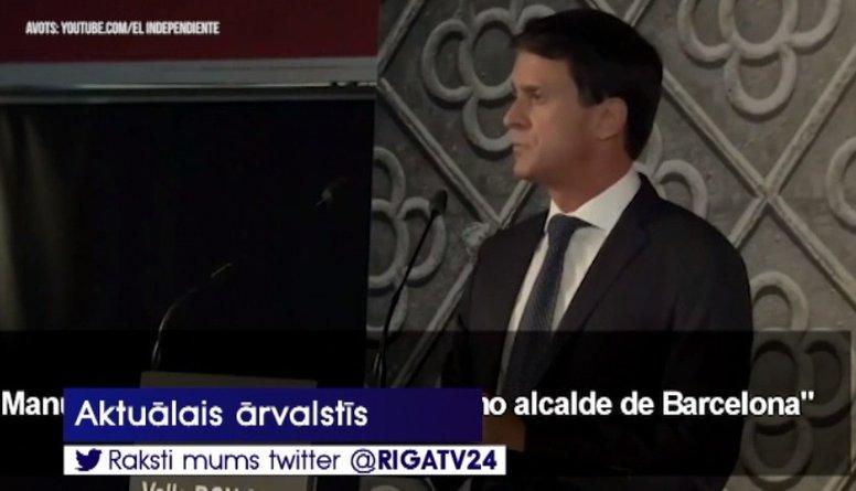Bijušais Francijas premjers kandidēs Barselonas mēra amatam