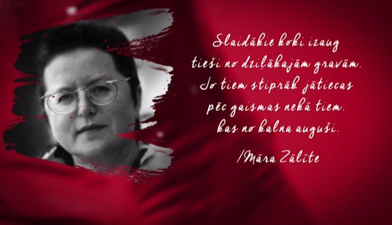 Māras Zālītes citāts Latvijas simtgadei