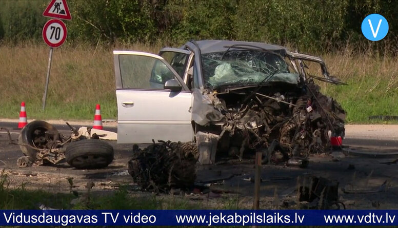 Smaga autoavārija uz Daugavpils šosejas Kūku pagastā