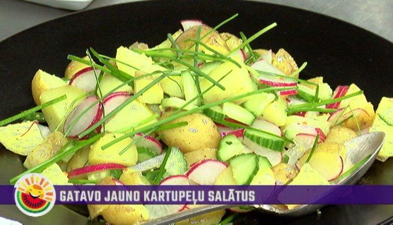 Ātra un viegla jauno kartupeļu salātu recepte