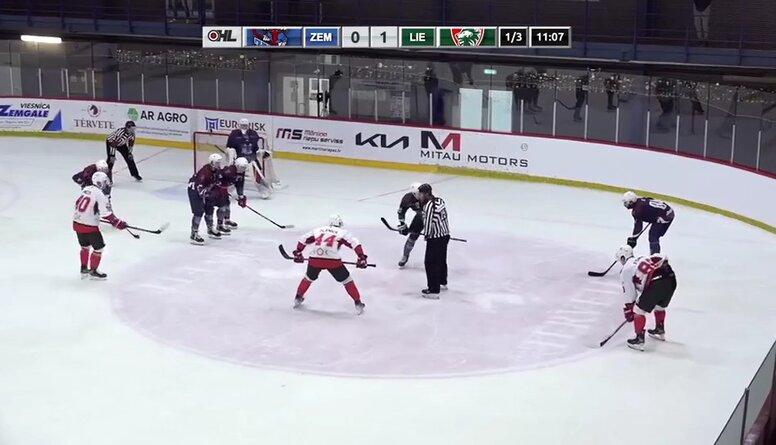 Optibet hokeja līga: HK Zemgale/LLU - HK Liepāja, spēles ieraksts