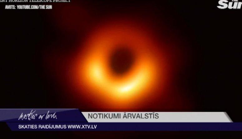 Pirmo reizi vēsturē nofotogrāfēts Melnais caurums