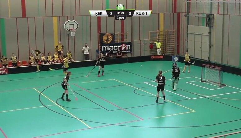 Elvi florbola līga sievietēm. Spēle par 3.vietu: FK Ķekava - Rubene-1. Spēles ieraksts
