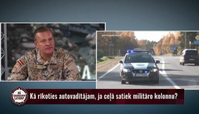 Kā rīkoties autovadītājam, ja ceļā satiek militāro kolonnu?