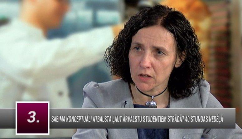 Šuplinska: Ja students var strādāt 40 h nedēļā, pa kuru laiku tiek studēts?