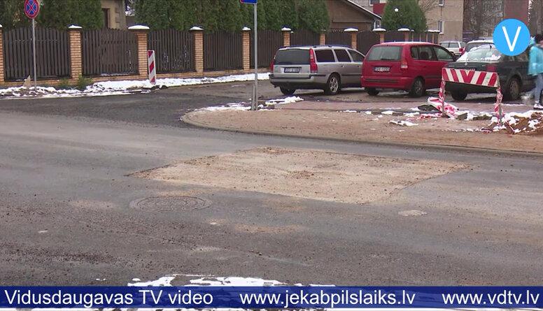 Jēkabpilī nāksies demontēt aptuveni 40 metrus svaigi ieklāta asfalta