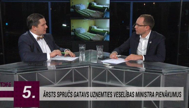 Skride par Roberta Spruča kandidatūru Veselības ministra amatam