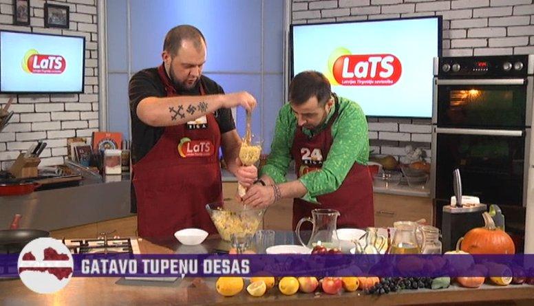 Roberto virtuvē gatavojam Varakļānos iecienītās tupeņu desas. Skaties, kā tās jāpilda cūku zarnās!