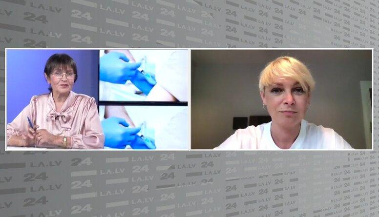 Eva Juhņēviča stāsta par priekšlikumu rīkot loteriju vakcinētiem iedzīvotājiem