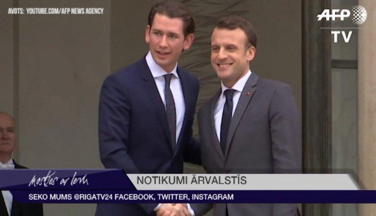 Austrijas kanclers kritizē Makrona Eiropas reformu idejas