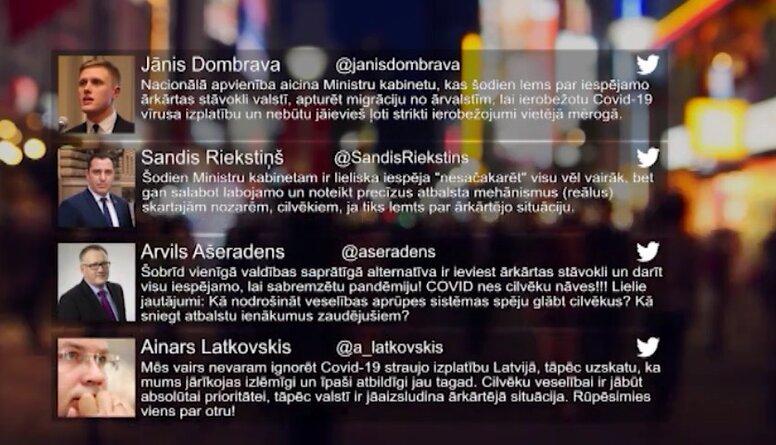 Tvitersāga: Ārkārtējā situācija Latvijā