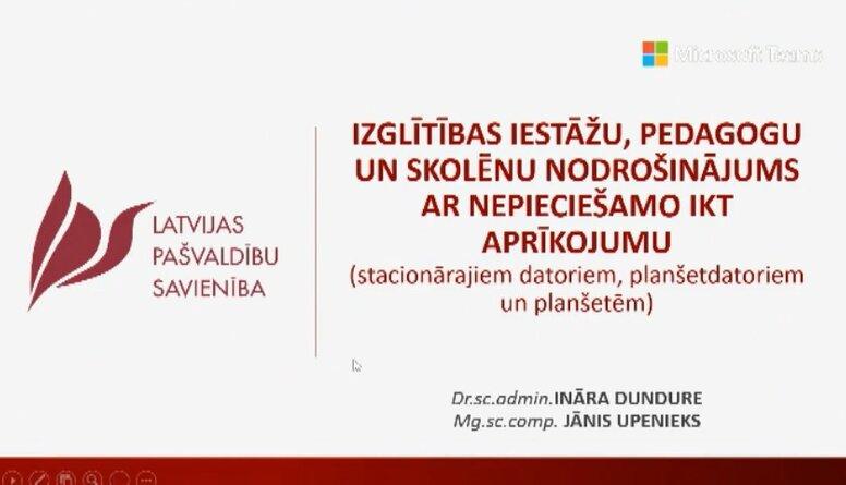 Speciālizlaidums: Informē par skolēnu un pedagogu nodrošinājumu ar datortehniku