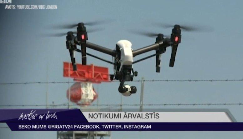 Londonas Getvikas lidosta atceļ lidojumus dronu dēļ