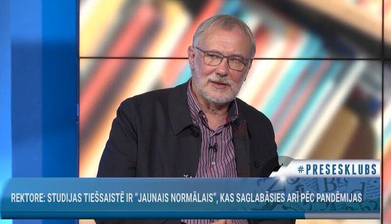Mārcis Auziņš komentē studiju procesa organizēšanu Latvijas Universitātē
