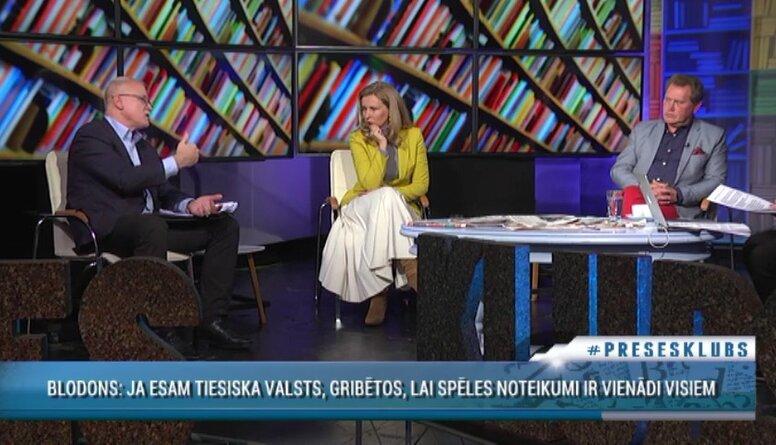 Valdis Keris un Inese Lībiņa-Egnere diskutē par budžeta līdzekļiem medicīnas nozarei