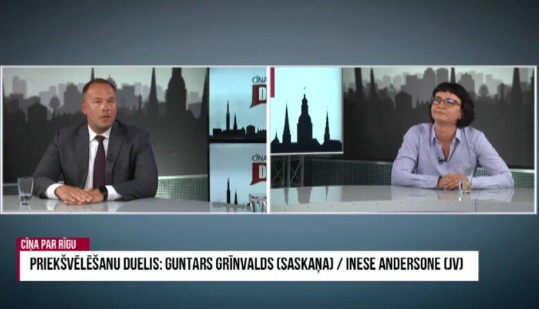 Priekšvēlēšanu duelis: Andersone/ Grīnvalds