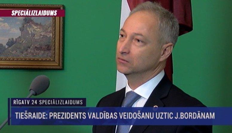 Prezidents valdības veidošanu uztic Jānim Bordānam