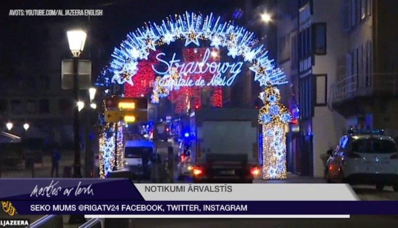 Apšaude Strasbūrā: trīs nogalinātie un vairāki ievainotie