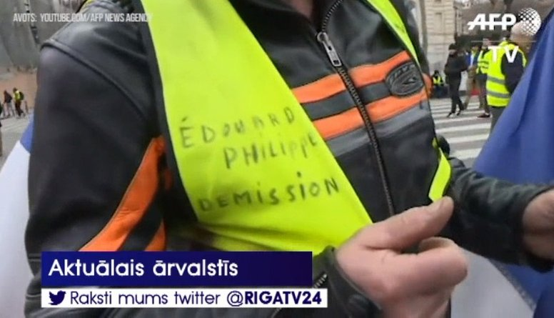 """Dzeltenās vestes"" turpina protestus Francijā"