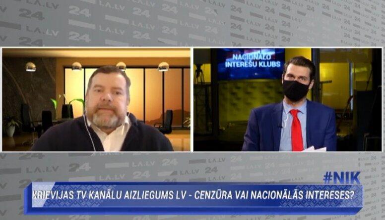 Andis Kudors par Krievijas TV kanālu retranslēšanas aizliegumu Latvijā