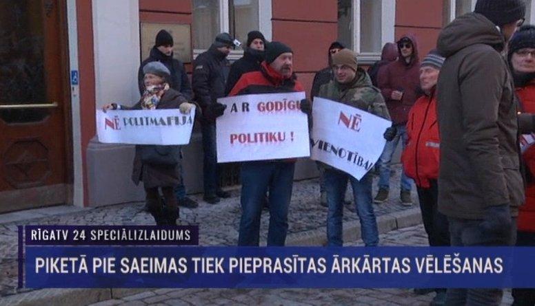 Speciālizlaidums - Pikets pie Saeimas ēkas pret Kariņa veidotu valdību