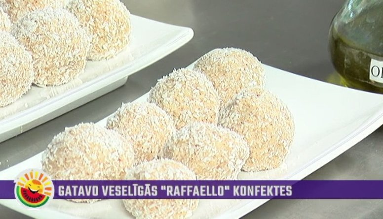 "Kā pagatavot veselīgas ""Rafaello"" konfektes?"