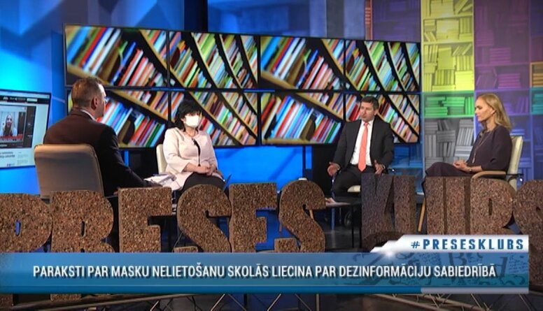 Vjačeslavs Dombrovskis par pretrunām ar sejas masku nēsāšanu