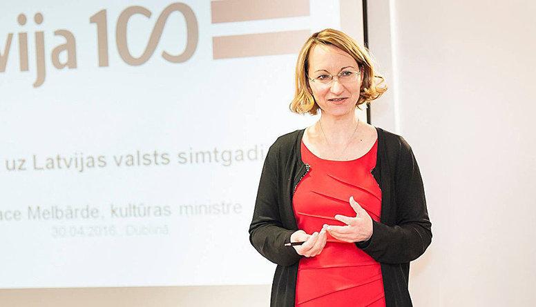 Kultūras ministres amatu jāsaglabā Melbārdei, uzskata Liepiņš