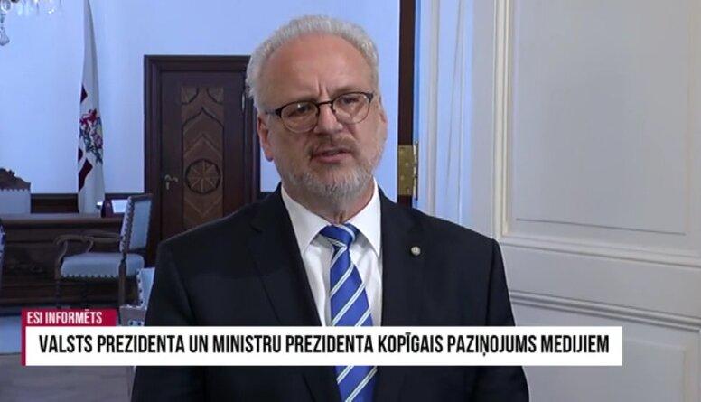 Valsts prezidents: Esam par sankcijām pret Baltkrievijas amatpersonām, nevis tās sabiedrību