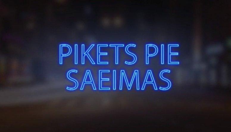 Tvitersāga: Pikets pie Saeimas