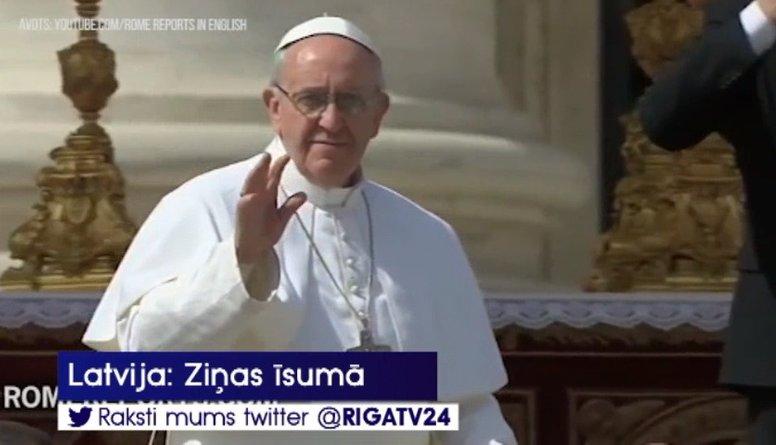 Romas pāvesta vizīte mums izmaksās ap 25 eiro sekundē