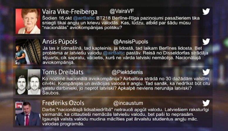 Tvitersāga: airBaltic paziņojumi pasažieriem