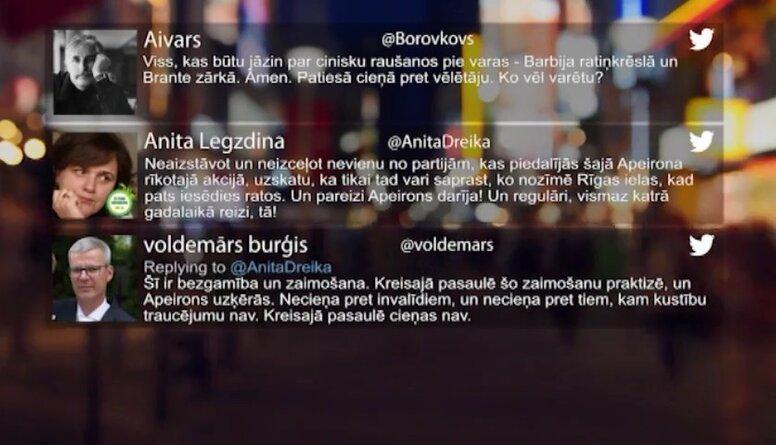 Tvitersāga: Apeirona rīkotā akcija