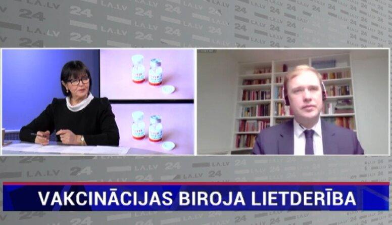 Viktors Valainis par Vakcinācijas projekta biroja lietderību