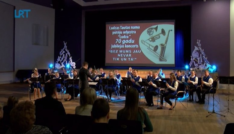 Ludzas Tautas nama pūtēju orķestris svin 70. jubileju