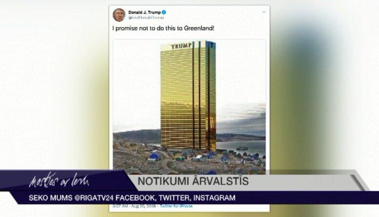 Donalds Tramps sola necelt viesnīcu Grenlandē
