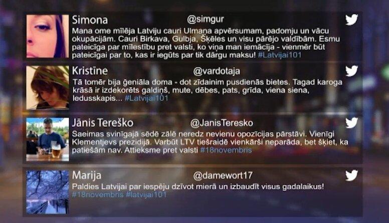 Tvitersāga: Atskaņās no 18. novembra