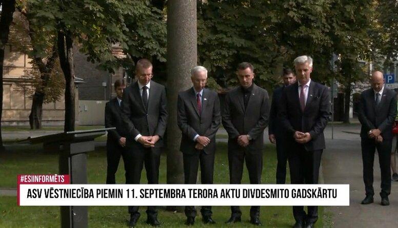 Speciālizlaidums: ASV vēstniecība piemin 11. septembra teroraktu 20. gadskārtu