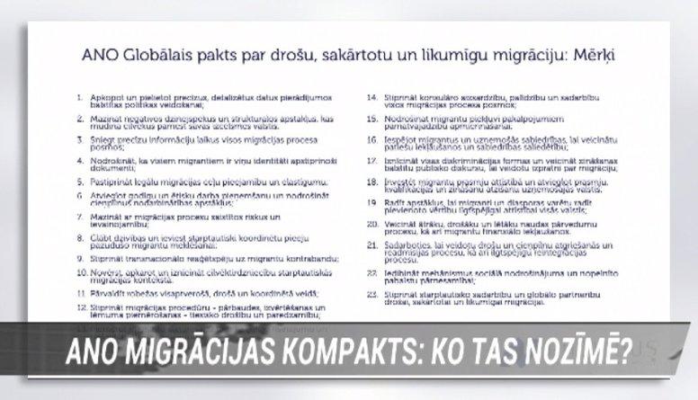 Pretrunības ANO migrācijas kompaktā